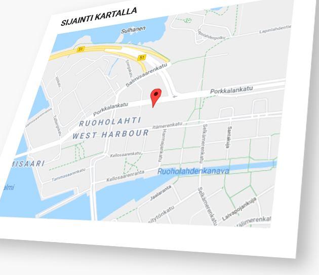 Työpaikkailmoituksen sijainti näkyy kartalla