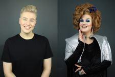 """Kuvassa meikkitaiteilija, drag queen Aarni Mikkola """"Jayden Mars""""."""