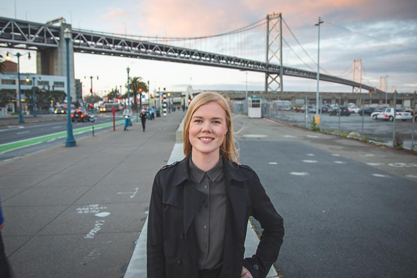 Kuvassa Inklusiivin perustaja Katja Toropainen.